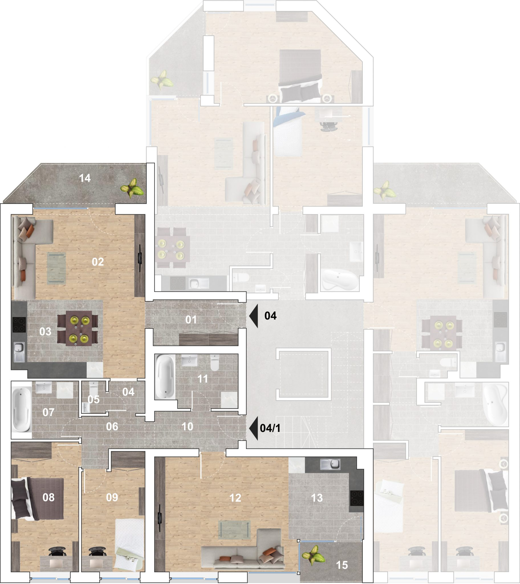 04M lakás alaprajz