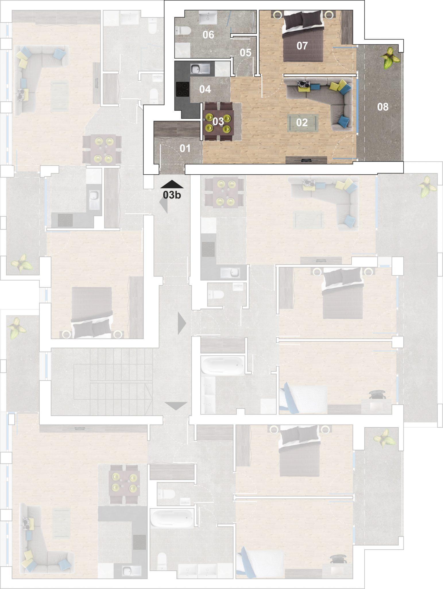 03b lakás alaprajz