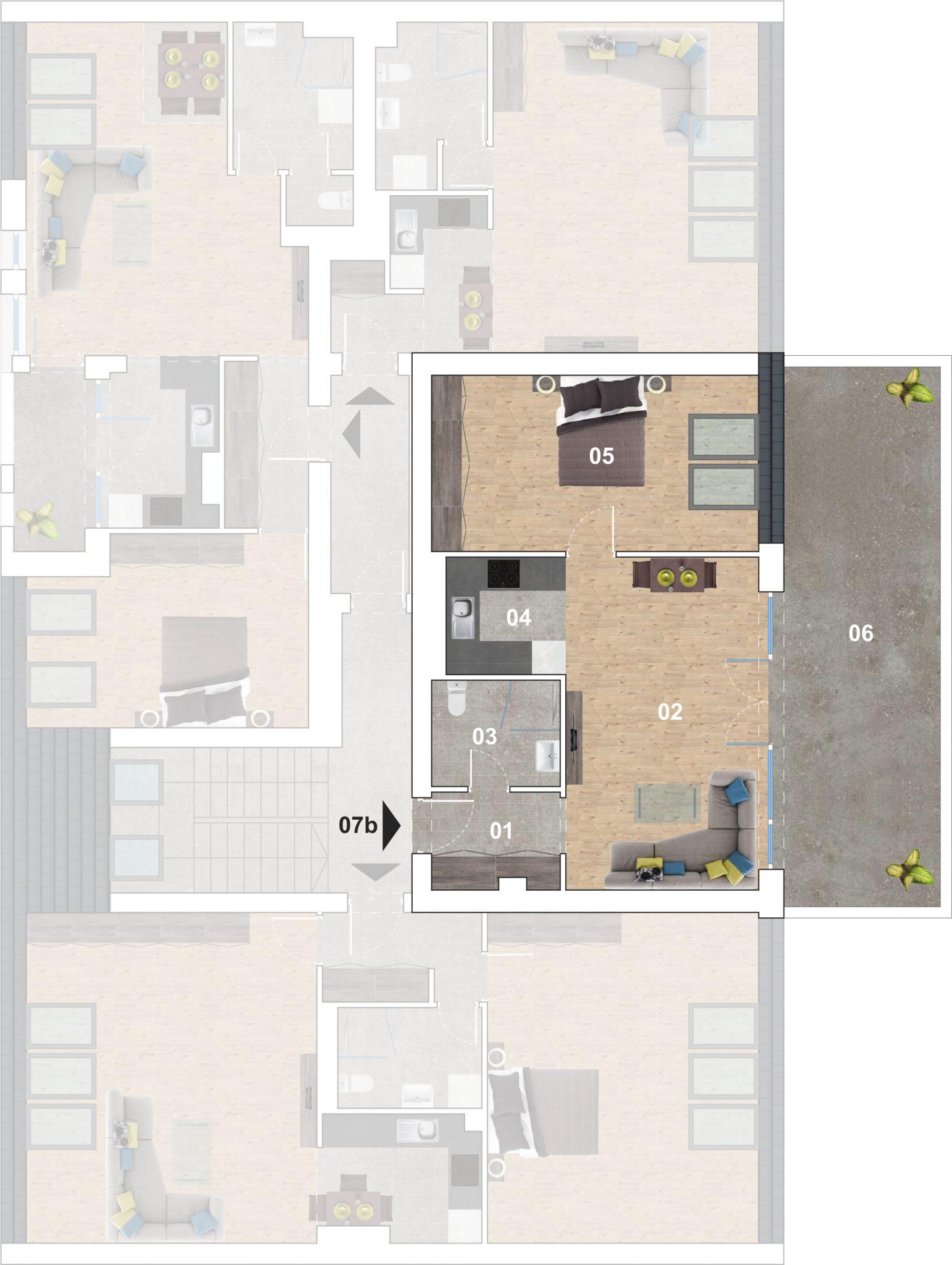 07b lakás alaprajz